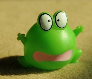 amazed frog