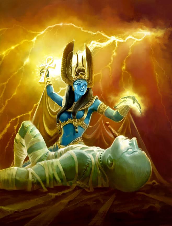 Isis resurrecting Osiris