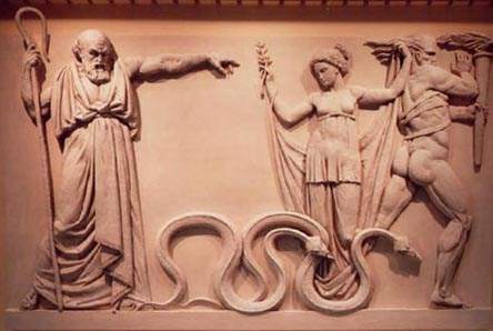 "St. Patrick casting out the ""snakes"""