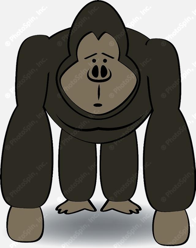 sad gorilla